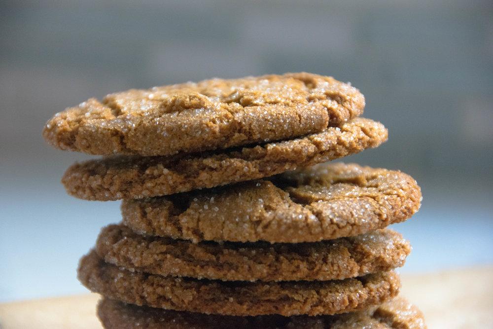 Ginger Molasses Spelt Cookies